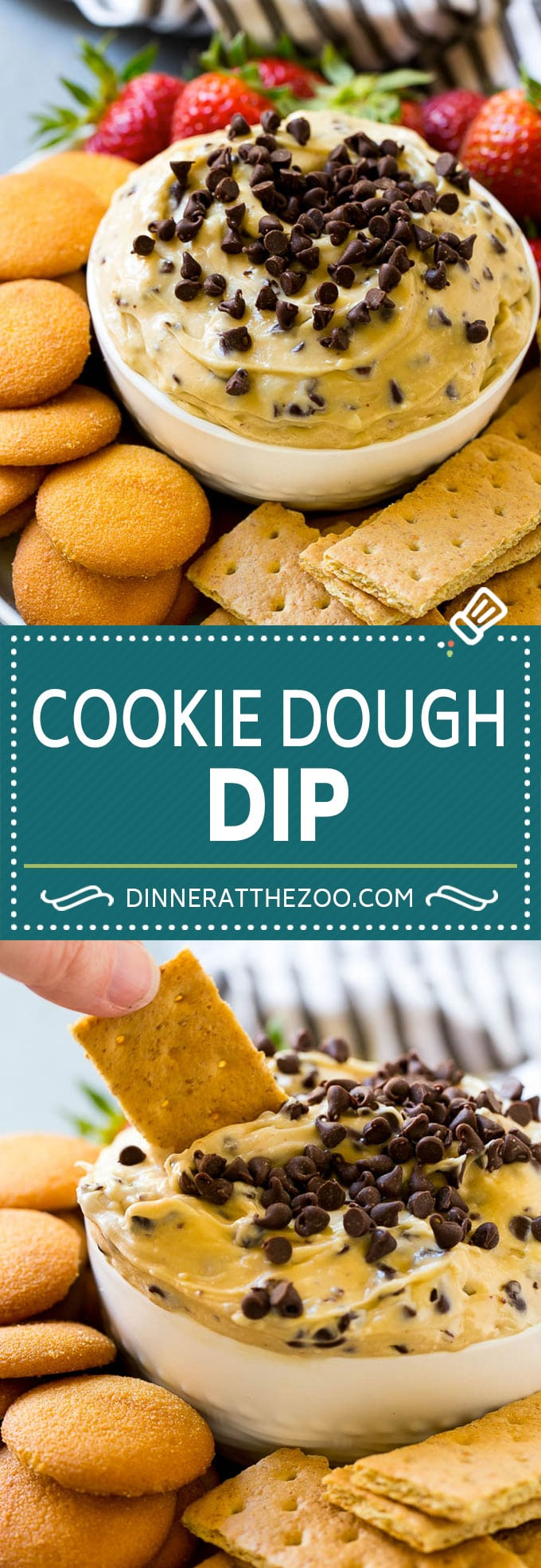 Cookie Dough Dip Recipe | Edible Cookie Dough | Chocolate Chip Cookie Dip #cookies #dip #cookiedough #dessert #snack #dinneratthezoo