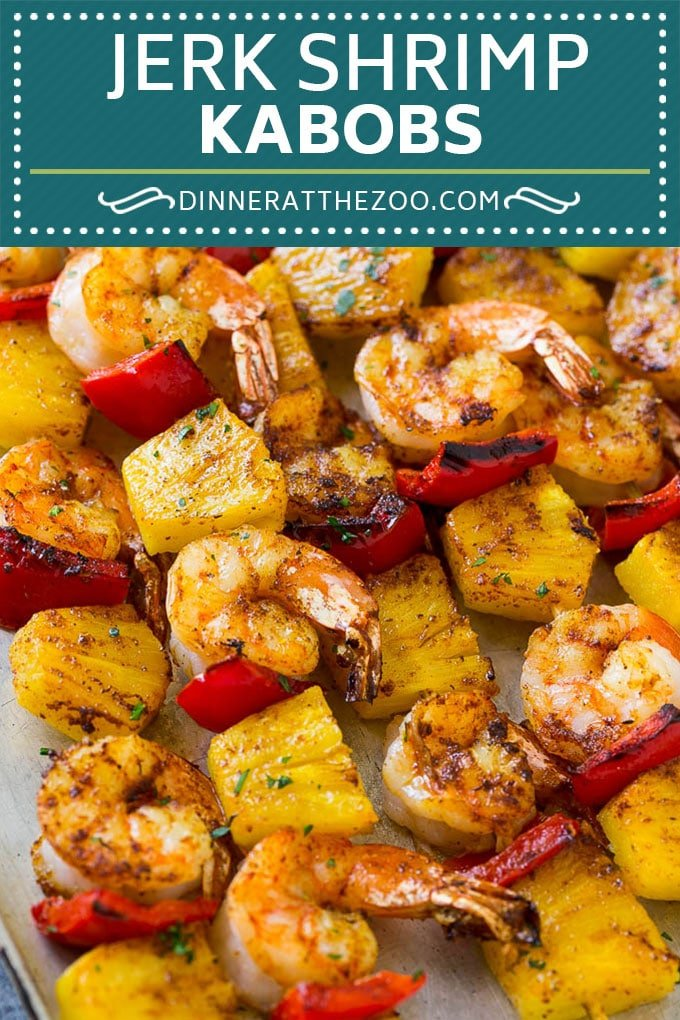 Jerk Shrimp Kabobs | Caribbean Shrimp | Jamaican Shrimp | Grilled Shrimp #grilling #pineapple #shrimp #kabobs #dinneratthezoo