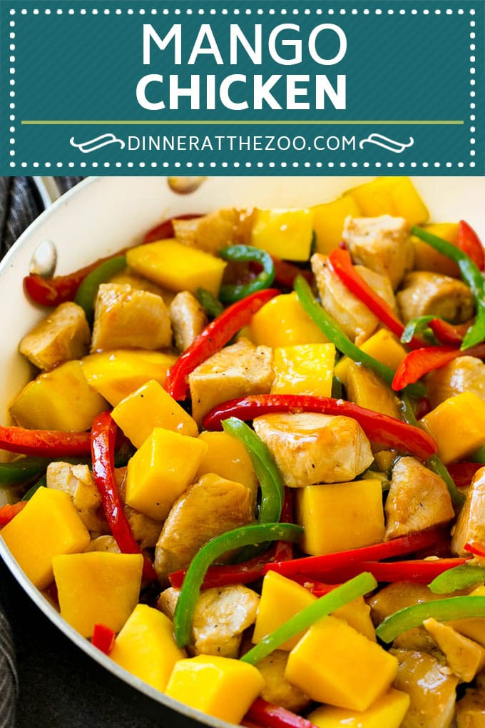 Mango Chicken Recipe | Chicken with Mango | Chicken Stir Fry #chicken #mango #stirfry #peppers #dinner #healthy #dinneratthezoo