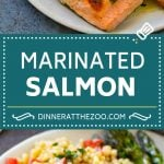Marinated Salmon Recipe | Grilled Salmon | Garlic and Herb Salmon #salmon #grilling #marinade #fish #dinner #dinneratthezoo