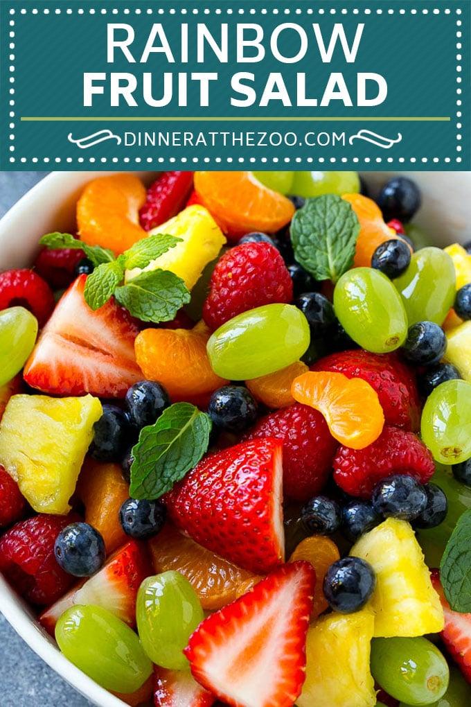 Rainbow Fruit Salad | Easy Fruit Salad | Healthy Fruit Salad #fruit #salad #healthy #dinneratthezoo