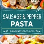 Sausage and Pepper Pasta Recipe | Italian Sausage Recipe | Sausage and Peppers | Easy Pasta #pasta #sausage #peppers #dinner #dinneratthezoo