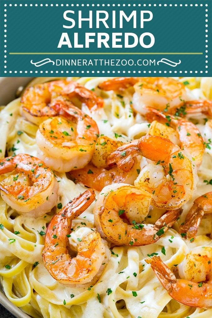 Shrimp Alfredo Recipe | Shrimp Alfredo Pasta | Shrimp Fettuccine Alfredo #shrimp #pasta #italianfood #dinneratthezoo