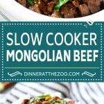 Slow Cooker Mongolian Beef Recipe | Crock Pot Mongolian Beef | Asian Beef Recipe | Slow Cooker Beef #beef #slowcooker #crockpot #asianfood #dinneratthezoo