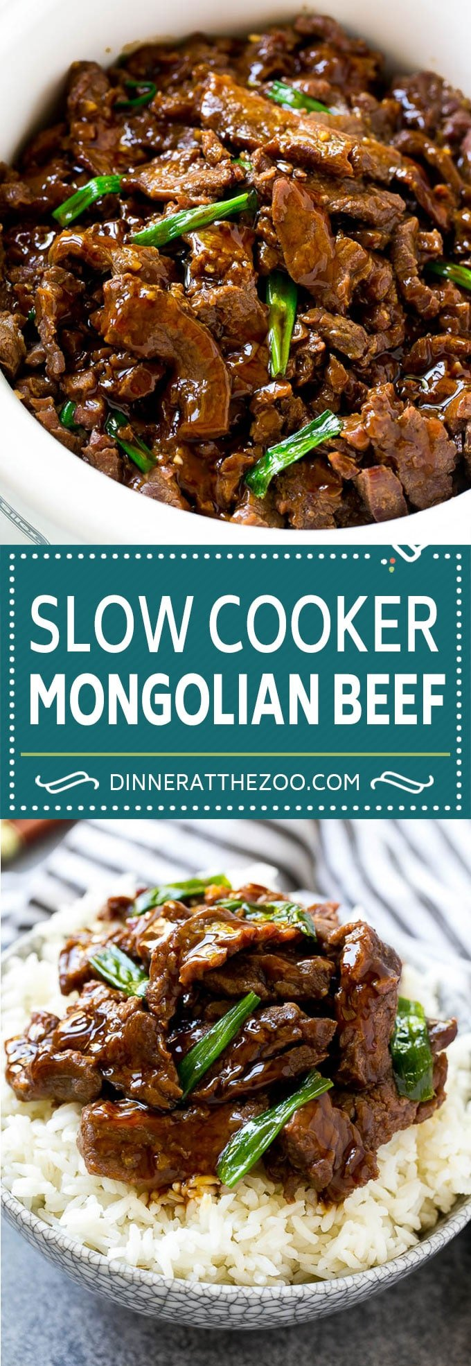 Slow Cooker Mongolian Beef Recipe | Crock Pot Mongolian Beef | Asian Beef Recipe | Slow Cooker Beef #beef #slowcooker #crockpot #asianfood #dinneratthezoo