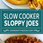 Slow Cooker Sloppy Joes Recipe   Crock Pot Sloppy Joes   Homemade Sloppy Joes #beef #slowcooker #crockpot #sandwich #dinneratthezoo
