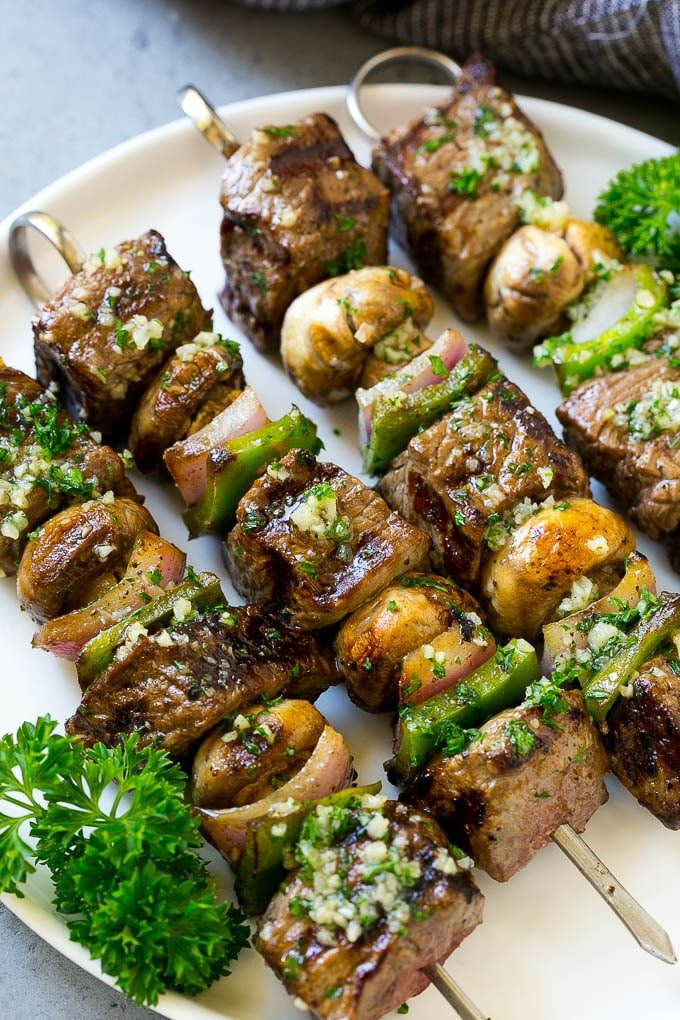 Steak Kabobs With Garlic Butter Dinner At The Zoo