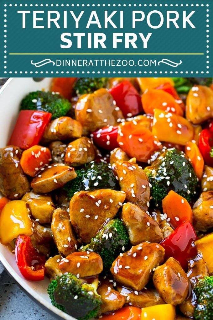 Teriyaki Pork Stir Fry Recipe | Pork Stir Fry | Easy Pork Recipe | Teriyaki Pork #teriyaki #pork #stirfry #asianfood #healthy #dinner #dinneratthezoo
