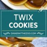 Twix Cookies Recipe | Chocolate Caramel Cookies | Shortbread Cookies #cookies #baking #caramel #chocolate #dessert #dinneratthezoo