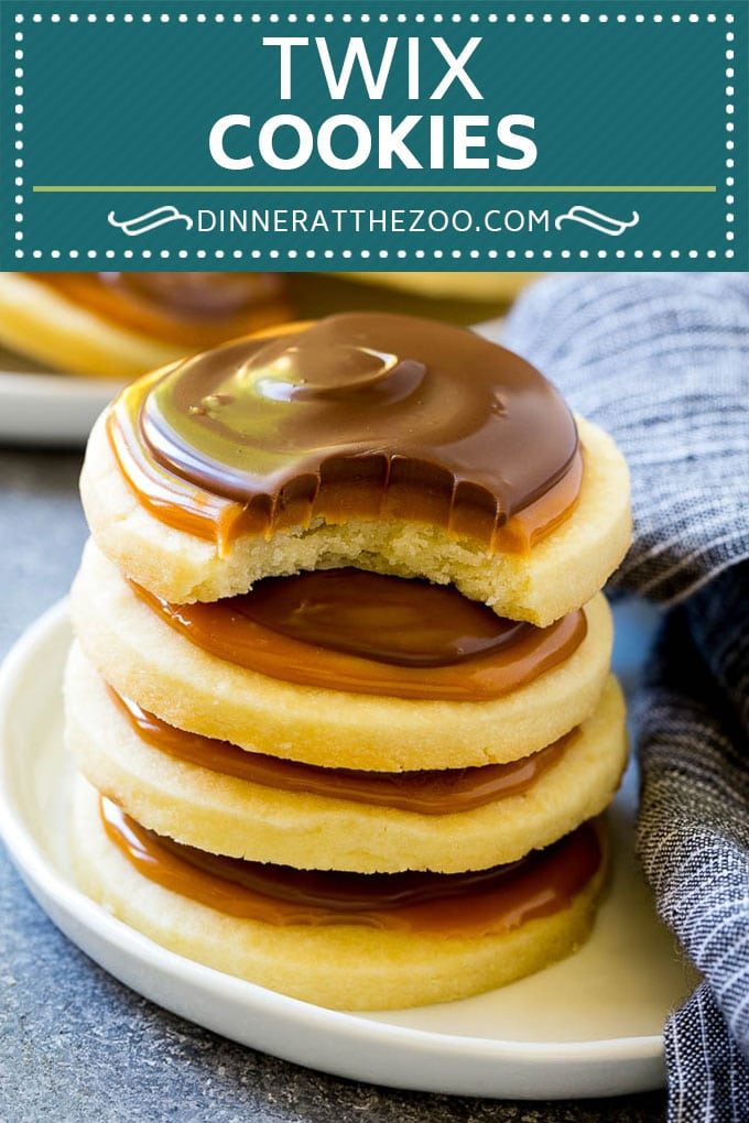 Twix Cookies Recipe | Chocolate Caramel Cookies | Shortbread Cookies #cookies #baking #caramel #chocolate #dessert #dinneratthezoo