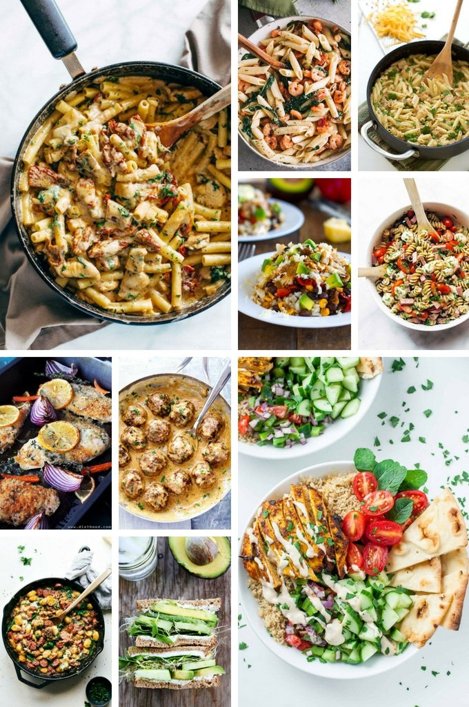 Back to school dinner recipes such as meatballs, gnocchi, sandwiches and pasta dishes.