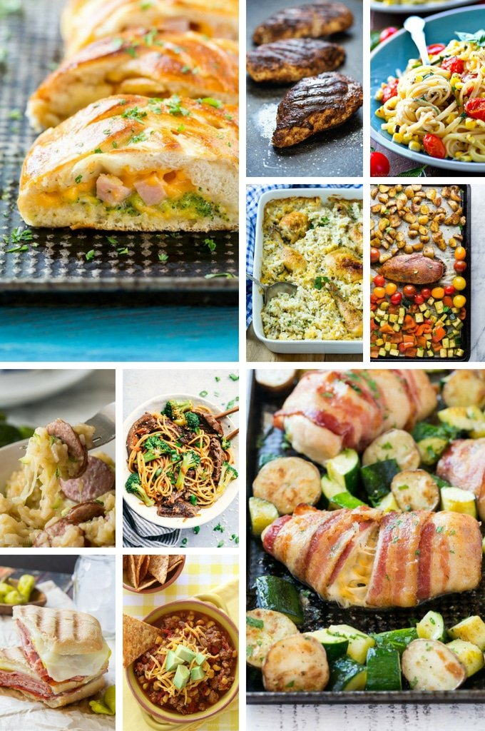 Back to school recipes including casseroles, sheet pan meals, sandwiches and chili.