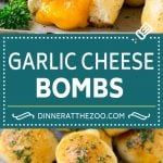 Cheese Bombs Recipe | Garlic Bread | Cheddar Bread #bread #cheese #appetizer #snack #garlicbread #dinneratthezoo