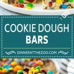 Cookie Dough Bars Recipe | Chocolate Chip Cookie Dough | Cookie Bars #cookiedough #cookies #cookiebars #chocolate #dessert #dinneratthezoo