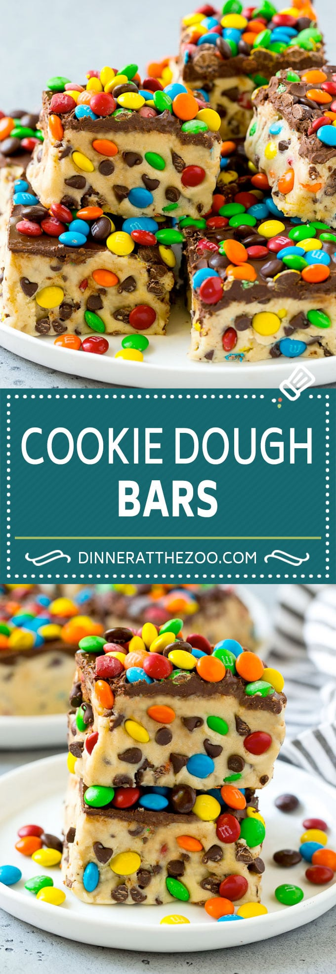 Cookie Dough Bars Recipe | Chocolate Chip Cookie Dough | Cookie Bars #cookiedough #cookies #cookiebars #chocolate #dessert #dinneratthezoo