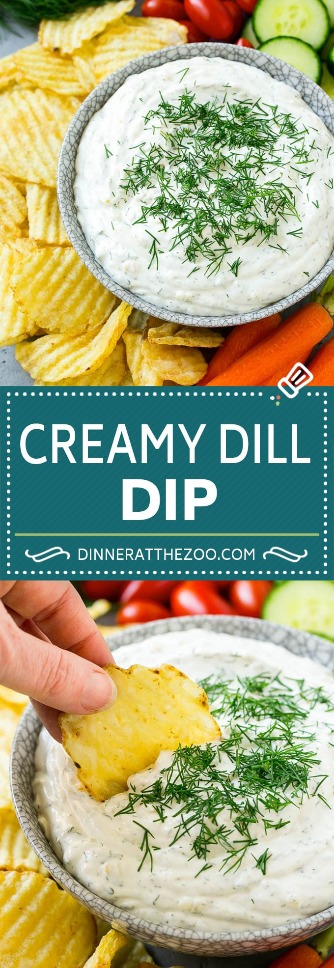 Dill Dip Recipe | Potato Chip Dip | Creamy Dip #dip #chips #snack #appetizer #dinneratthezoo
