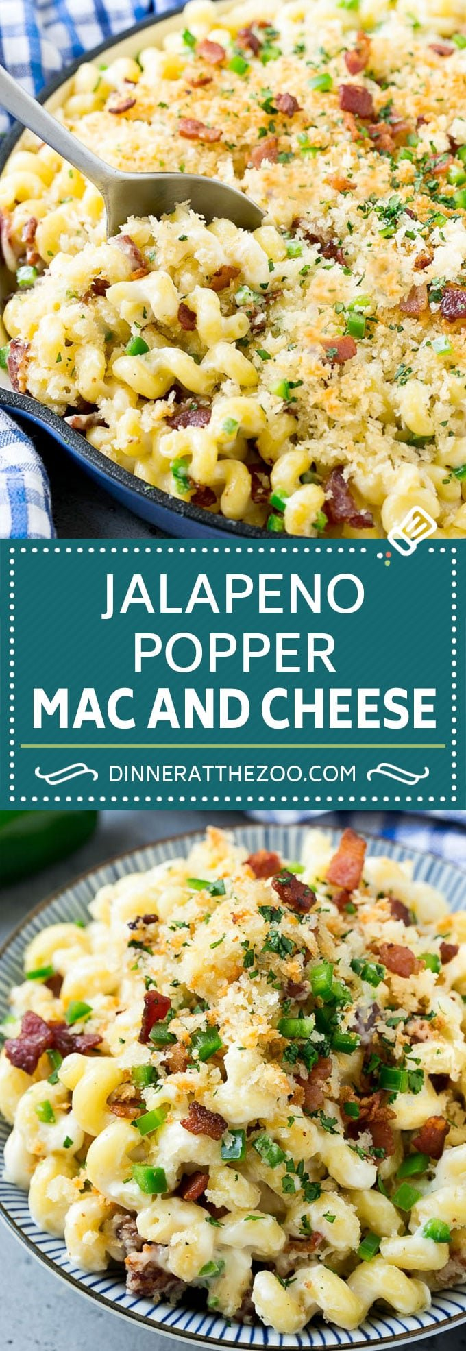 Jalapeno Popper Mac and Cheese Recipe | Bacon Macaroni and Cheese | Spicy Mac and Cheese | Jalapeno Mac and Cheese #jalapeno #bacon #pasta #macandcheese #dinner #dinneratthezoo #cheese