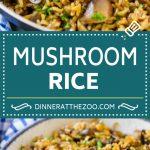 Mushroom Rice Recipe   Baked Rice   Rice Pilaf #rice #mushrooms #sidedish #dinner #dinneratthezoo