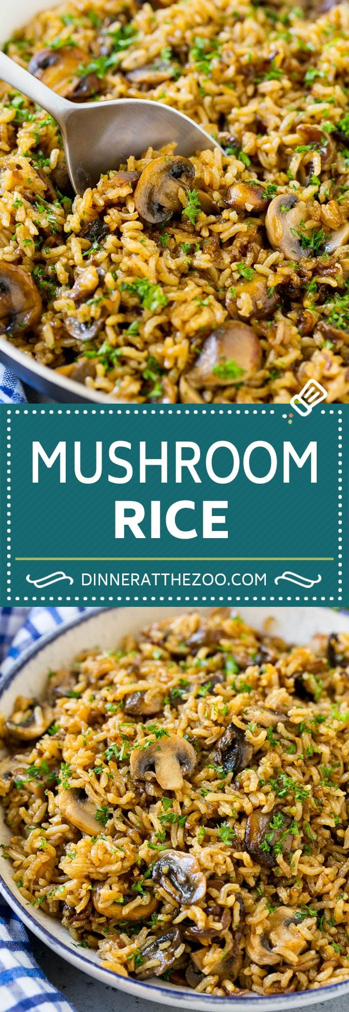 Mushroom Rice Recipe | Baked Rice | Rice Pilaf #rice #mushrooms #sidedish #dinner #dinneratthezoo