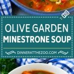 Olive Garden Minestrone Soup Recipe | Minestrone Soup | Copycat Recipe #minestrone #soup #italianfood #vegetarian #dinner #dinneratthezoo