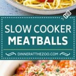 Slow Cooker Meatballs Recipe | Crock Pot Meatballs | Italian Meatballs | Spaghetti and Meatballs #meatballs #slowcooker #crockpot #dinner #dinneratthezoo #italian