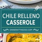 Chile Relleno Casserole Recipe   Baked Chile Rellenos   Mexican Casserole #casserole #chiles #mexican #cheese #dinner #dinneratthezoo