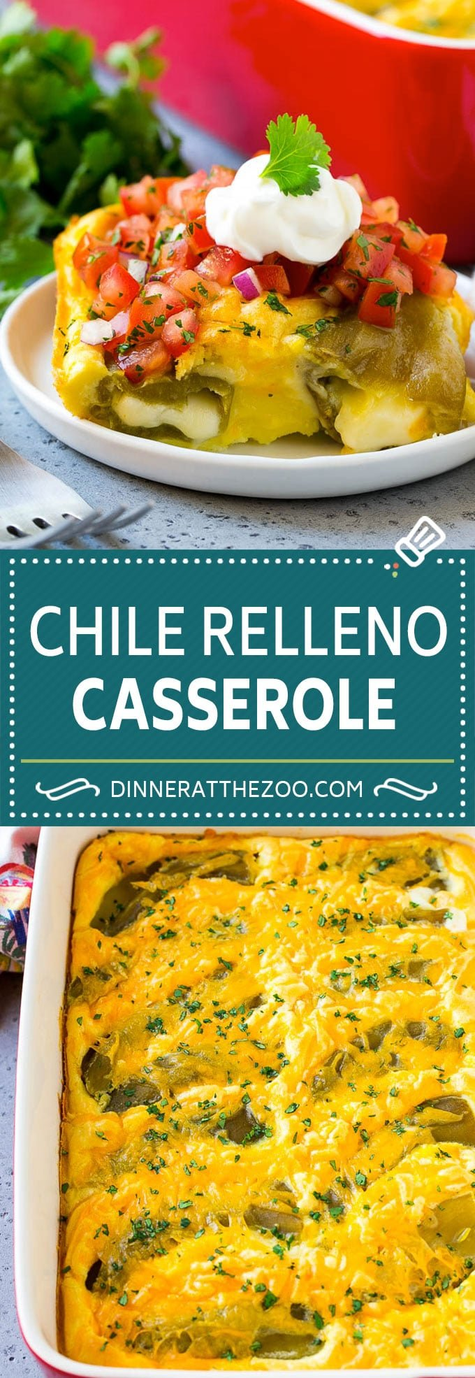 Chile Relleno Casserole Recipe | Baked Chile Rellenos | Mexican Casserole #casserole #chiles #mexican #cheese #dinner #dinneratthezoo