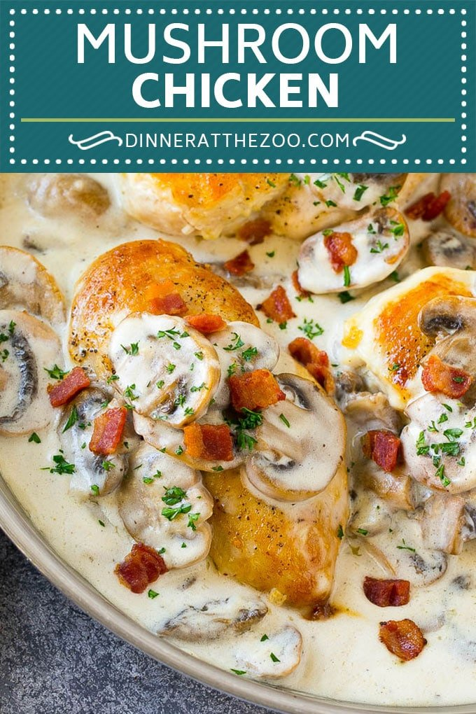 Mushroom Chicken Recipe | Chicken with Mushrooms | Chicken in Mushroom Sauce #chicken #mushrooms #bacon #dinner #dinneratthezoo