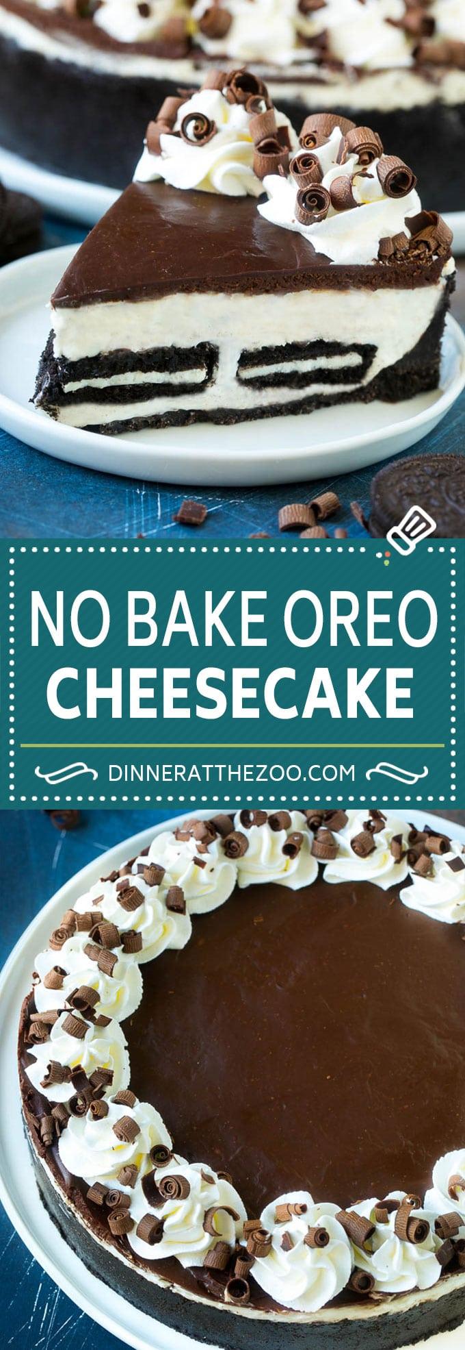 Oreo Cheesecake Recipe | No Bake Oreo Cheesecake | No Bake Cheesecake #cheesecake #oreo #chocolate #nobake #dessert #dinneratthezoo