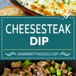 Philly Cheesesteak Dip Recipe | Cheesy Dip | Baked Cheese Dip #steak #dip #appetizer #cheese #dinneratthezoo