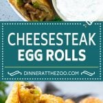 Philly Cheesesteak Egg Rolls | Beef Egg Rolls | Philly Cheesesteak Appetizer #steak #cheese #appetizer #snack #dinneratthezoo