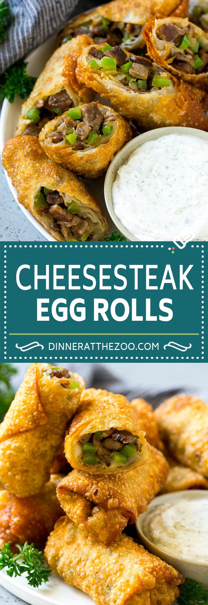 Philly Cheesesteak Egg Rolls | Beef Egg Rolls | Philly Cheesesteak Appetizer #steak #cheese #appetizer #snack #dinneratthezoo