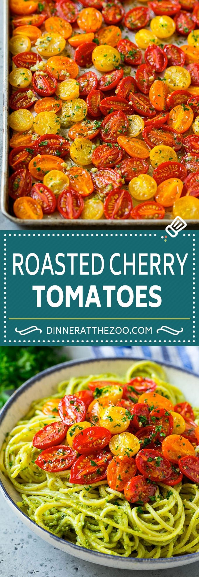 Roasted Cherry Tomatoes Recipe | Roasted Tomatoes #tomatoes #sidedish #glutenfree #cleaneating #healthy #dinner #dinneratthezoo