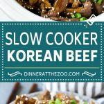 Slow Cooker Korean Beef Recipe | Korean Beef | Flank Steak Recipe #dinner #beef #slowcooker #crockpot #asian #dinneratthezoo