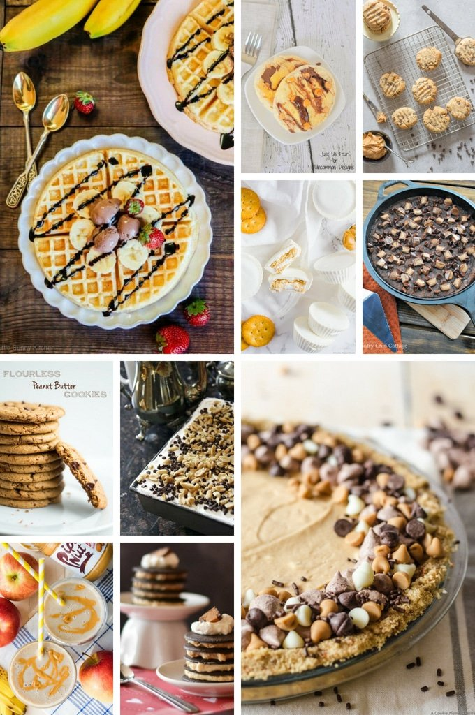 Peanut butter recipes including cookies, dessert lasagna and cake.