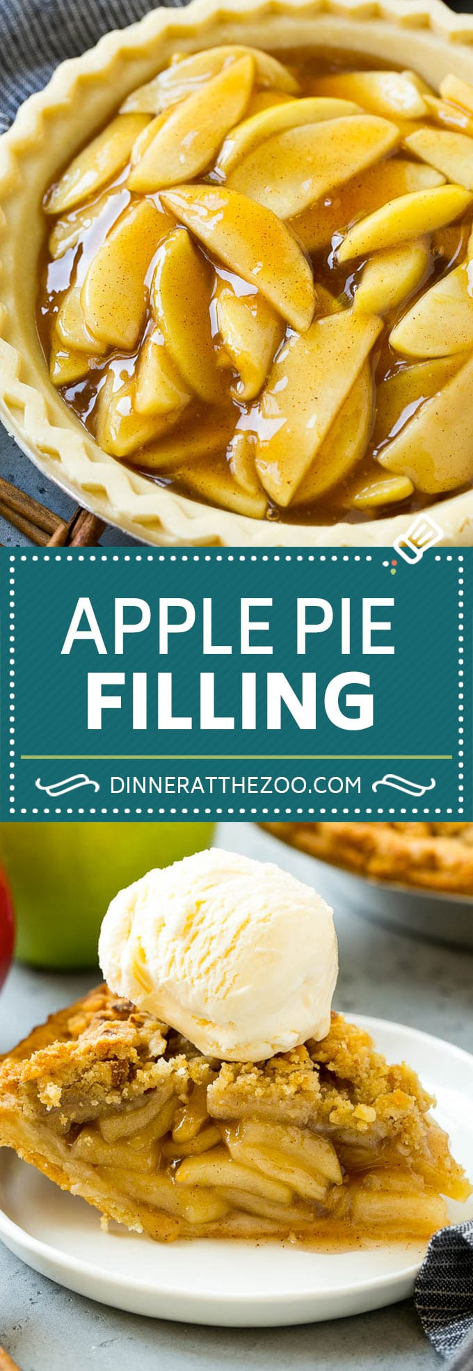 Apple Pie Filling Recipe | Apple Pie Recipe | Apple Recipe #apple #fall #baking #pie #dinneratthezoo