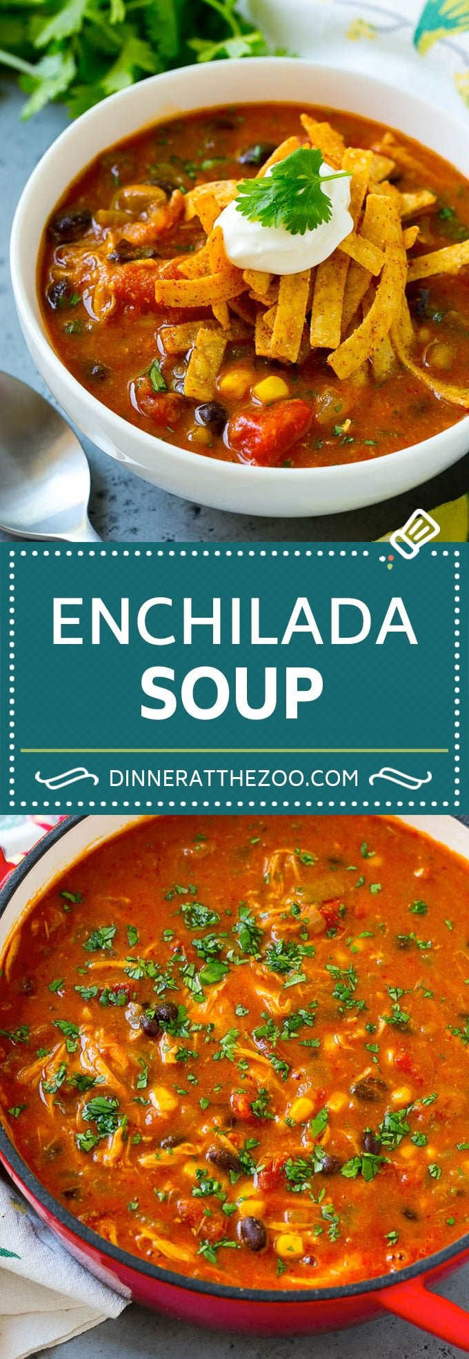 Chicken Enchilada Soup | Mexican Soup | Enchilada Soup #soup #chicken #chickensoup #beans #corn #dinner #dinneratthezoo