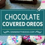 Chocolate Covered Oreos Recipe | Oreo Cookies | Chocolate Dipped Oreos #oreo #cookies #chocolate #sprinkles #dessert #dinneratthezoo