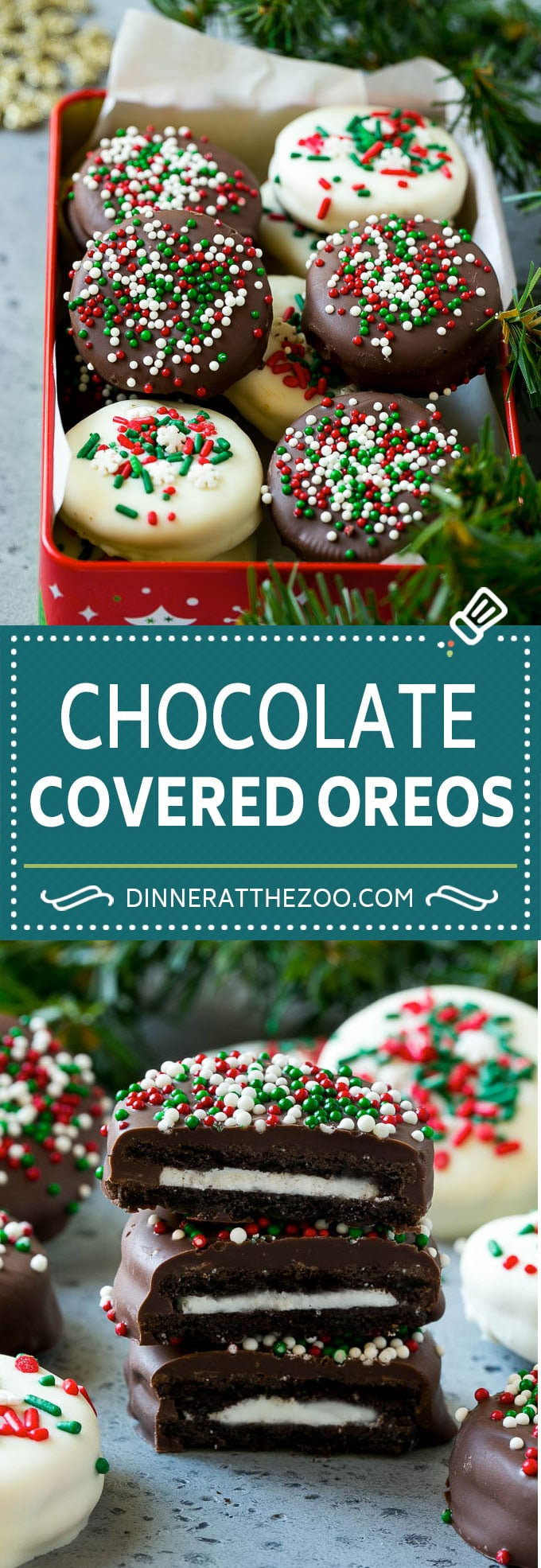 Chocolate Covered Oreos Recipe | Oreo Cookies | Chocolate Dipped Oreos #oreo #cookies #chocolate #sprinkles #dessert #dinneratthezoo