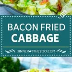 Fried Cabbage Recipe   Cabbage with Bacon   Cabbage Side Dish #cabbage #bacon #sidedish #lowcarb #keto #dinneratthezoo