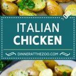 Italian Chicken Recipe | Sheet Pan Chicken | Baked Chicken #chicken #potatoes #dinner #dinneratthezoo