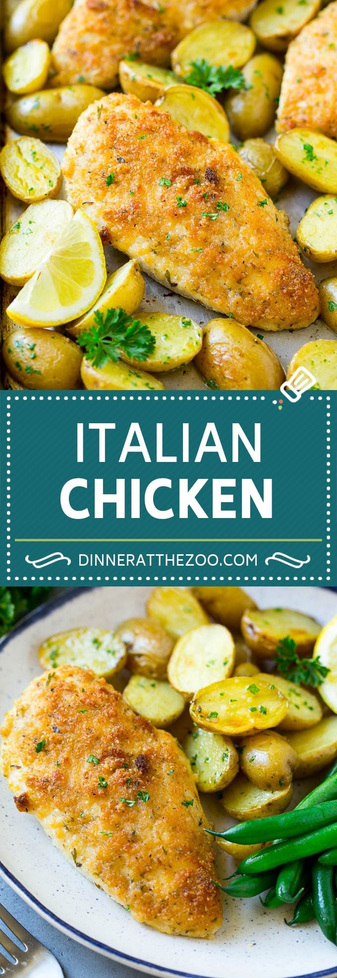 Italian Chicken Recipe | Sheet Pan Chicken | Baked Chicken #chicken #potatoes #dinner #dinneratthezoo