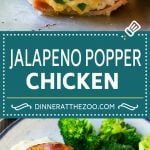 Jalapeno Popper Chicken Recipe | Bacon Wrapped Chicken | Stuffed Chicken | Low Carb Chicken #chicken #lowcarb #keto #bacon #jalapenos #cheese #dinner #dinneratthezoo