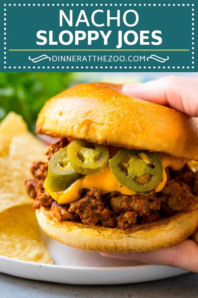 Nacho Sloppy Joes Recipe | Ground Beef Recipe | Easy Sloppy Joes #beef #nachos #cheese #spicy #sandwich #dinner #dinneratthezoo