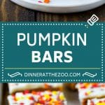 Pumpkin Bars Recipe   Pumpkin Cake   Pumpkin Dessert #pumpkin #fall #dessert #dinneratthezoo #thanksgiving