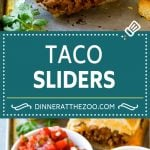 Taco Sliders Recipe | Beef Slider Sandwiches | Easy Slider Sandwiches #sandwich #taco #beef #cheese #snack #appetizer #dinneratthezoo