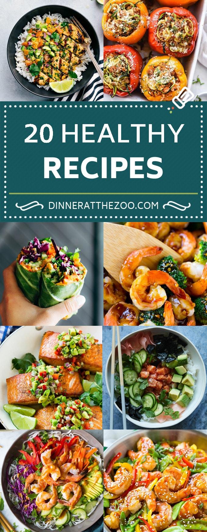 20 Healthy Recipes | Healthy Chicken Recipes | Healthy Shrimp Recipes | Low Carb Recipes #healthy #cleaneating #lowcarb #dinner #dinneratthezoo