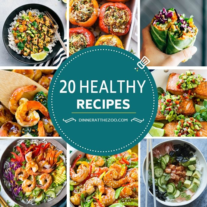 20 Healthy Recipes Collage