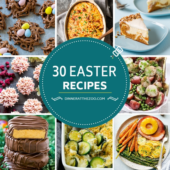 The best Easter recipes including main course, side dish and dessert options.