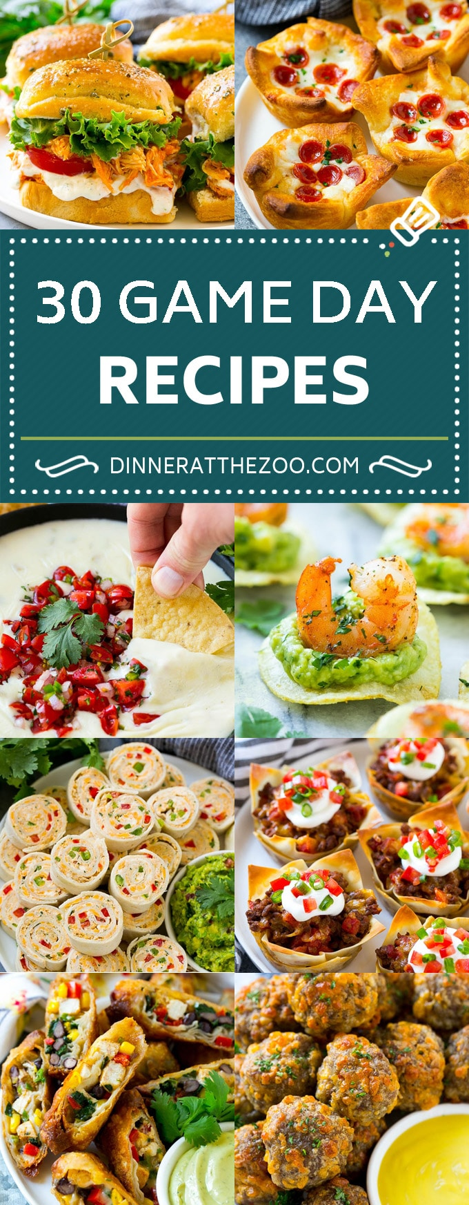 30 Game Day Recipes | Super Bowl Recipes | Party Appetizers #superbowl #gameday #appetizers #snacks #dinneratthezoo